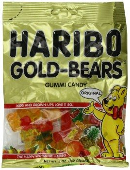 Haribo Gummi Candy, Original Gold-Bears, 5-Ounce Bags (Pack of 12) Deal