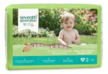 Seventh Generation Free and Clear, Unbleached Baby Diapers, Size 2, 144 Count Deal