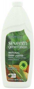 Seventh Generation Natural Dish Liquid, Lemongrass & Clementine Zest, 25-Oz. Bottles (Pack of 6) Deal