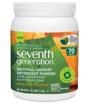 Seventh Generation Natural Laundry Detergent Powder, Mandarin and Sandalwood, 50 Ounce Deal