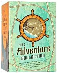 The Adventure Collection Treasure Island, The Jungle Book, Gulliver's Travels, White Fang, The Merry Adventures of Robin Hood (The Heirloom Collection) Deal