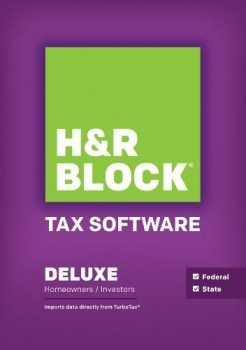 Block Financial H&R Block Tax Software 14 Deluxe + State Deal