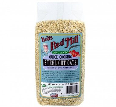 Bob's Red Mill Organic Quick Cook Steel Cut Oats, 22-Ounce (Pack of 4) Deal