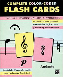 Complete Color Coded Flash Cards for All Beginning Music Students Deal