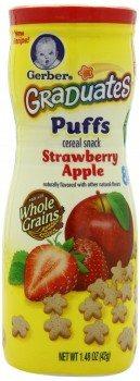 Gerber Graduates Puffs, Strawberry Apple, 1.48-Ounce (pack of 6) Deal