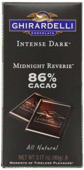 Ghirardelli Chocolate Intense Dark Bar, Midnight Reverie, 3.17 oz., 6 Count Deal