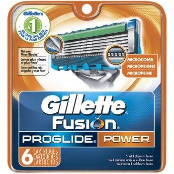 Gillette Fusion Proglide Power Cartridge 6 Count Unit Deal