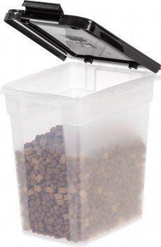 IRIS Airtight Pet Food Container, 10-Pound, ClearBlack Deal