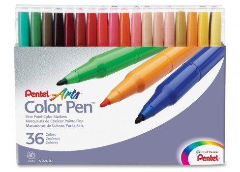 Pentel Color Pen Set, Set of 36 Assorted Colors Deal