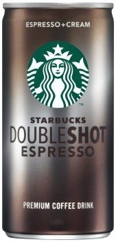 Starbucks Doubleshot, Espresso + Cream, 6.5 Ounce, 12 Pack Deal