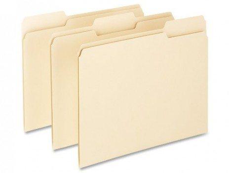 Pendaflex Essentials File Folders, 1 3 Cut, Top Tab, Letter, Manila, 100 Per Box Deal