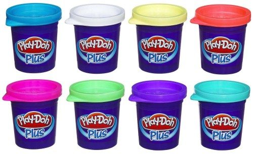 Play-Doh Plus Color Set, NET WT 8OZ, 8-Pack Deal