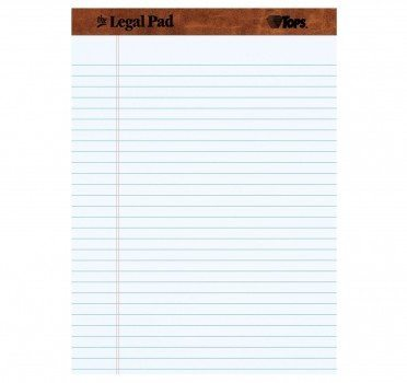 TOPS The Legal Pad Legal Pad, 8-1 2 x 11-3 4 Inches, Perforated, White, Legal Wide Rule, 50 Sheets per Pad, 12 Pads per Pack (7533) Deal