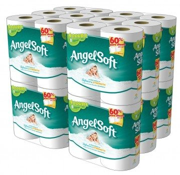 Angel Soft, Double Rolls, [4 Rolls 12 Pack]  48 Total Count Deal
