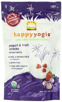 Happy Yogis Organic Yogurt Snacks for Babies and Toddlers, Mixed Berry, 1-oz. Pouches (Count of 8) Deal