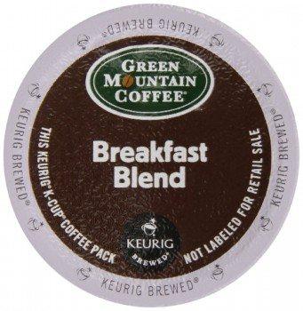Keurig, Green Mountain Coffee, Breakfast Blend, K-Cup packs, 72 Coun Deal