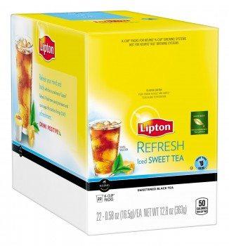 Lipton K-Cups, Refresh Iced Sweet Tea 22 ct Deal
