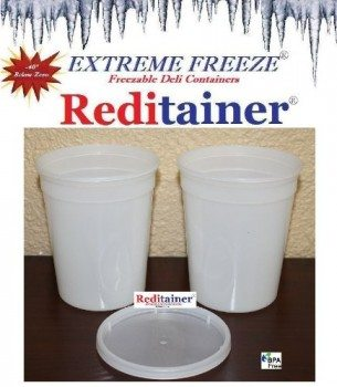 Reditainer Extreme Freeze Deli Food Containers with Lids, 32-Ounce, 24-Pack Deal
