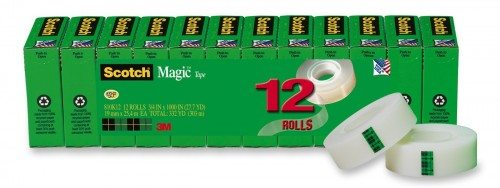 Scotch Magic Tape, 3 4 x 1000 Inches, Boxed, 12 Rolls (810K12) Deal