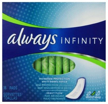 Always Infinity Heavy Flow Without Wings 16 ct. Deal