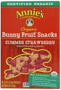 Annie's Homegrown Summer Strawberry Organic Bunny Fruit Snacks, 4-Ounce Boxes Deal