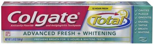 Colgate Total Advanced Fresh + Whitening Gel Toothpaste, 5.8oz (Pack of 2) Deal