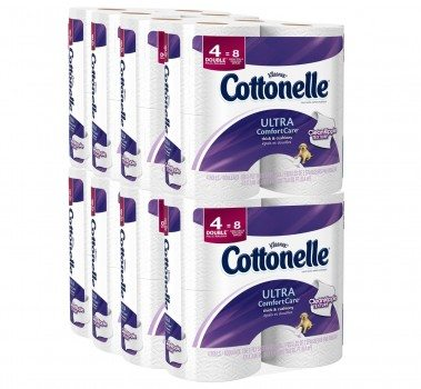 Cottonelle Ultra Comfort Care Toilet Paper, Double Roll Economy Plus Pack, 32 Count Deal