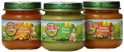 Earth's Best Organic My First Veggies Baby Food Starter Pack, 12 2.5oz Jars Deal