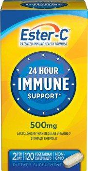 Ester-C Vitamin C, 500mg Tablets, 120-Count Bottle
