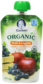 Gerber 2nd Foods Organic Baby Food, Apples, Blueberries and Spinach, 3.5 Ounce Pouches (Pack of 12) Deal