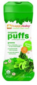 Happy Baby Organic Green Puffs, 2.1000-ounces (Pack of6) Deal