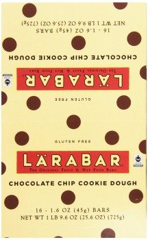 Larabar Gluten Free Fruit & Nut Food Bar, Chocolate Chip Cookie Dough, 16 - 1.6 Ounce Bars Deal