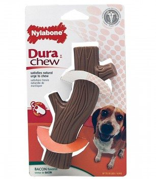 Nylabone Dura Chew Wolf Bacon Flavored Hollow Stick Bone Dog Chew Toy Deal