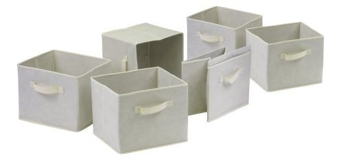 Winsome Capri Set of 6 Foldable Fabric Baskets Deal