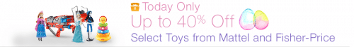toys and games from Mattel and Fisher-Price Deal