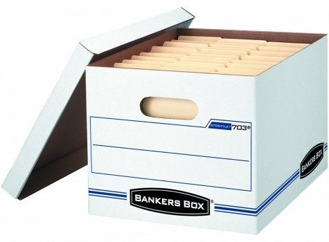 Bankers Box Stor File Storage Box with Lift-Off Lid, Letter Legal, 12 x 10 x 15 Inches, White, 12 Pack (00703)  Deal