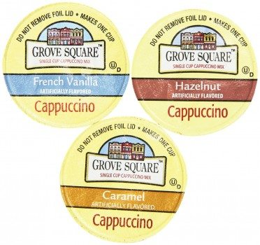 Grove Square Cappuccino Variety Pack, 72 Single Serve Cups 0.53 Oz Deal