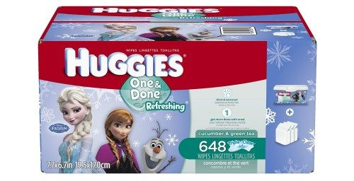 Huggies One and Done Refreshing Baby Wipes Refill, Cucumber and Green Tea, 648 Count Deal
