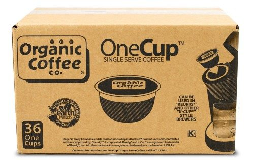 The Organic Coffee Co. OneCup, Decaf Gorilla, 36 Single Serve Coffees  Deal