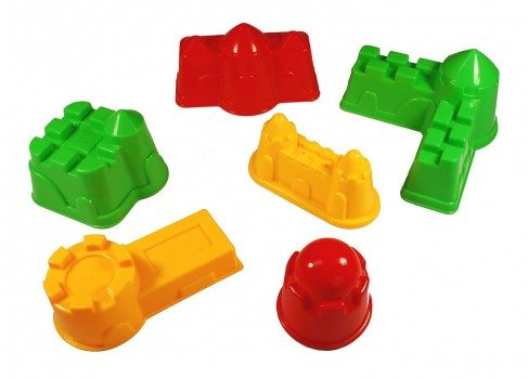 6 Piece Colorful Sand Mold Set (Colors May Vary) Deal