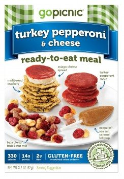 GoPicnic Ready-to-Eat Meals Turkey Pepperoni & Cheese (Pack of 6)