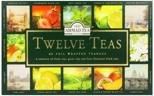 Ahmad Tea Twelve Teas, 60-Count Assorted Package Deal