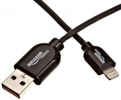 AmazonBasics Apple Certified Lightning to USB Cable - 3 Feet (0.9 Meters) - Black Deal