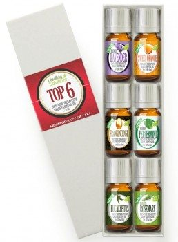 Aromatherapy Top 6 - 100 Pure Therapeutic Grade Basic Sampler Essential Oil Gift Set- 6 10 ml Kit Deal