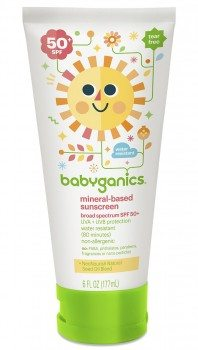 Babyganics Mineral-Based Baby Sunscreen Lotion, SPF 50, 6oz Tube (Pack of 2) Deal