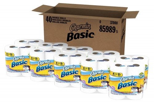 Charmin Basic Toilet Paper 40 Double Roll (10 Packs of 4 Double Rolls) Deal