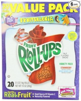 Fruit Roll-Ups Fruit Flavored Snacks, Variety Pack (Strawberry & Berry Berry Cool), 20-Count Rolls , Pack of 6  Deal