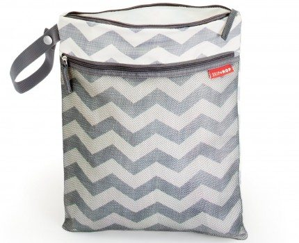 Skip Hop Grab and Go Wet Dry Diaper Bag, Chevron Deal