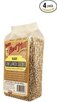 Bob's Red Mill Natural Raw Sunflower Seeds, 20-Ounce Packages (Pack of 4) Deal