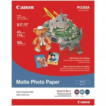 Canon Matte Photo Paper, 8.5 x 11 Inches, 50 Sheets (7981A004) Deal